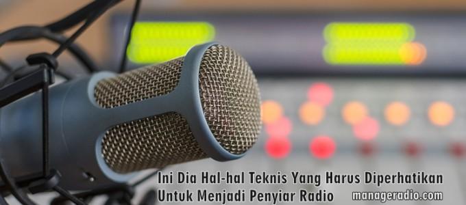 hal dasar penyiar radio