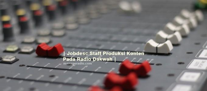 jobdesc staff produksi radio
