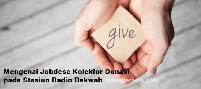 jobdesc kolektor donasi radio dakwah ok